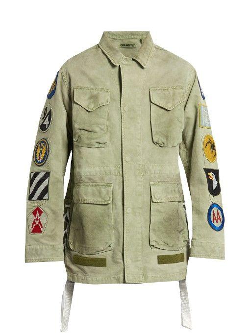 a87fbebae8de OFF-WHITE Patches-appliqué cotton field jacket.  off-white  cloth  jacket