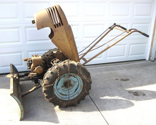 Antique Two Wheel Tractor : Vintage david bradley super walk behind tractor with