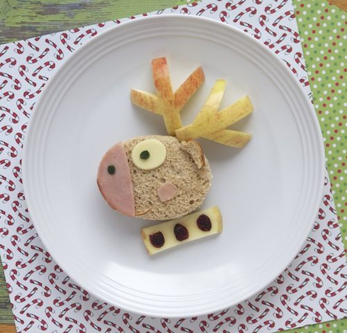 Delight your kids during the holiday break with this cute (and healthy) Christmas-themed sandwich  perfect for little ones eagerly anticipating Santa!