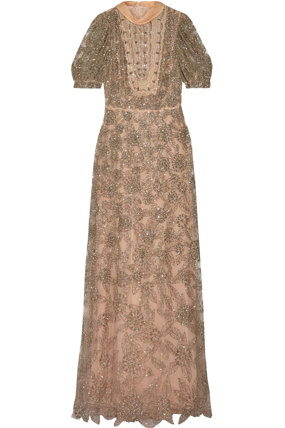 VALENTINO Silk-Trimmed Embellished Tulle Gown. #valentino #cloth ...