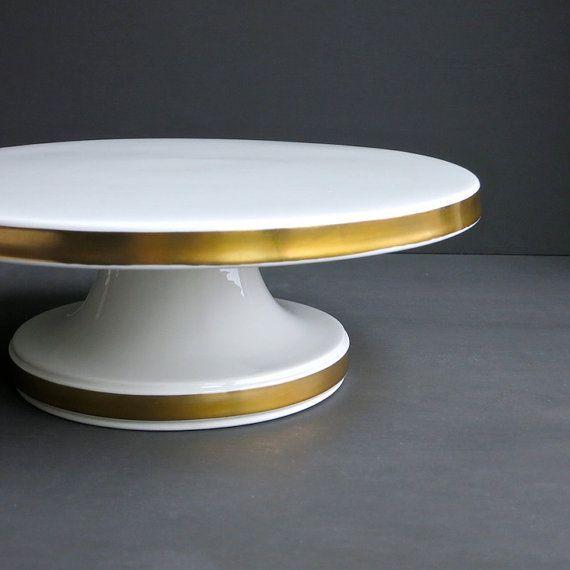 White Porcelain Cake Stand Square