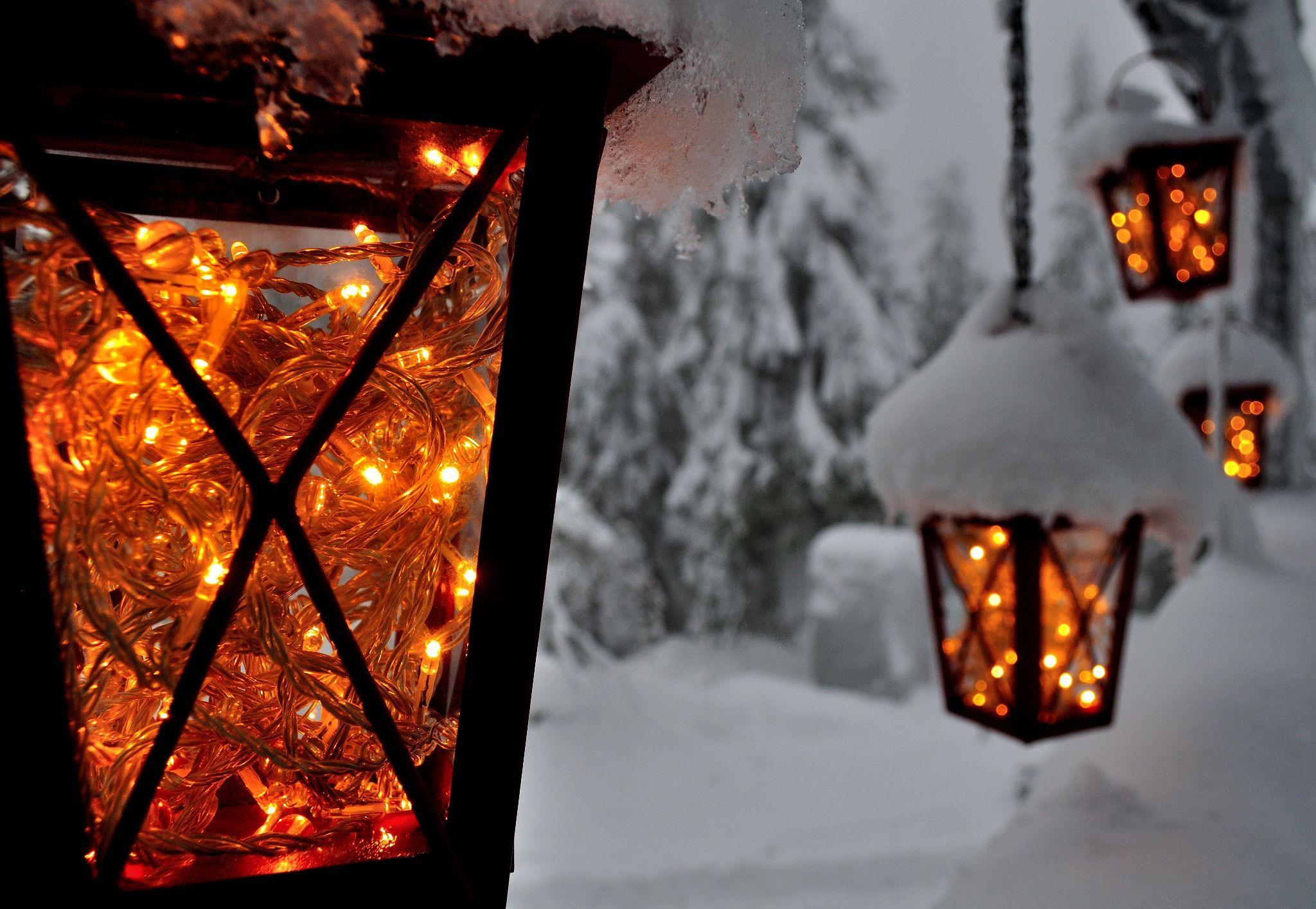 Зимние картинки фонарики