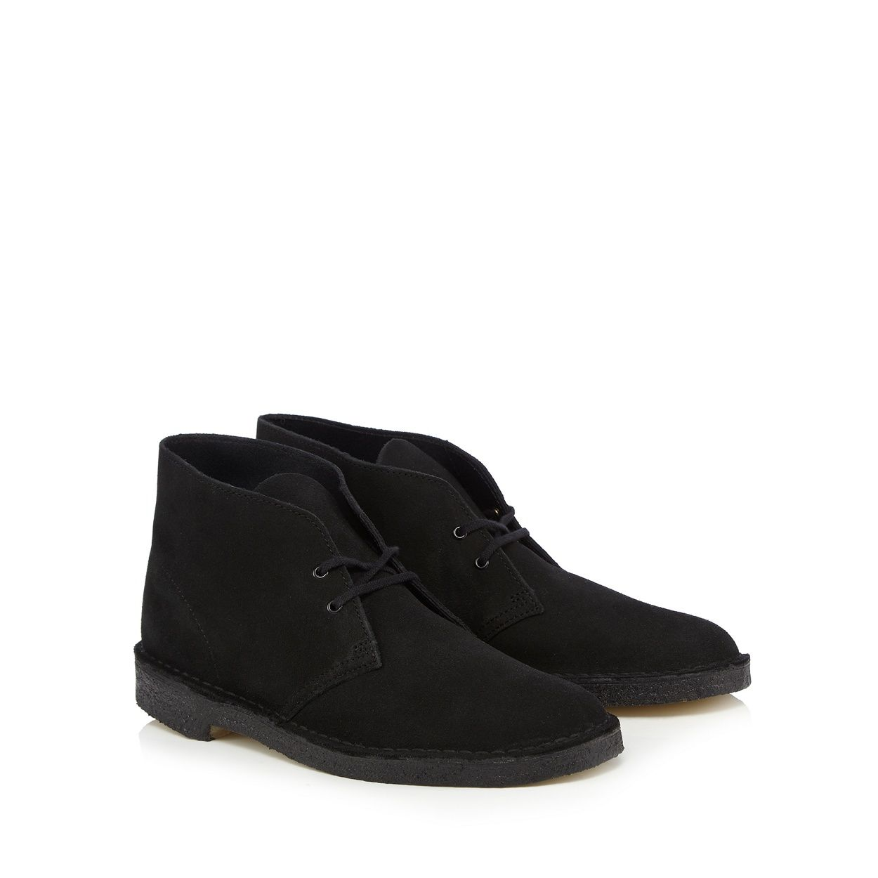 These boots from Clarks feature a super-smooth suede exterior with two  pairs of eyelets and black laces, finished with internal leather that's  comfortable ...