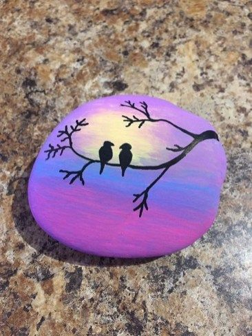 42 Sweet Rock Painting Design Ideas For Your Home Decor is part of Rock painting designs, Painted rocks, Rock painting ideas easy, Painted rocks diy, Rock crafts, Stone art - In case you're searching for a modest craftsmanship or specialty action for yourself or to impart to kids, think about the specialty of painting on rocks  Rock painting might be Read More