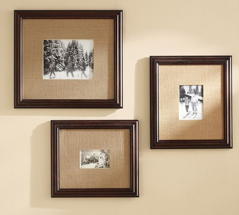 Using Burlap to Mat Photos/Art- Multi-Mat Frames | Pottery Barn ...