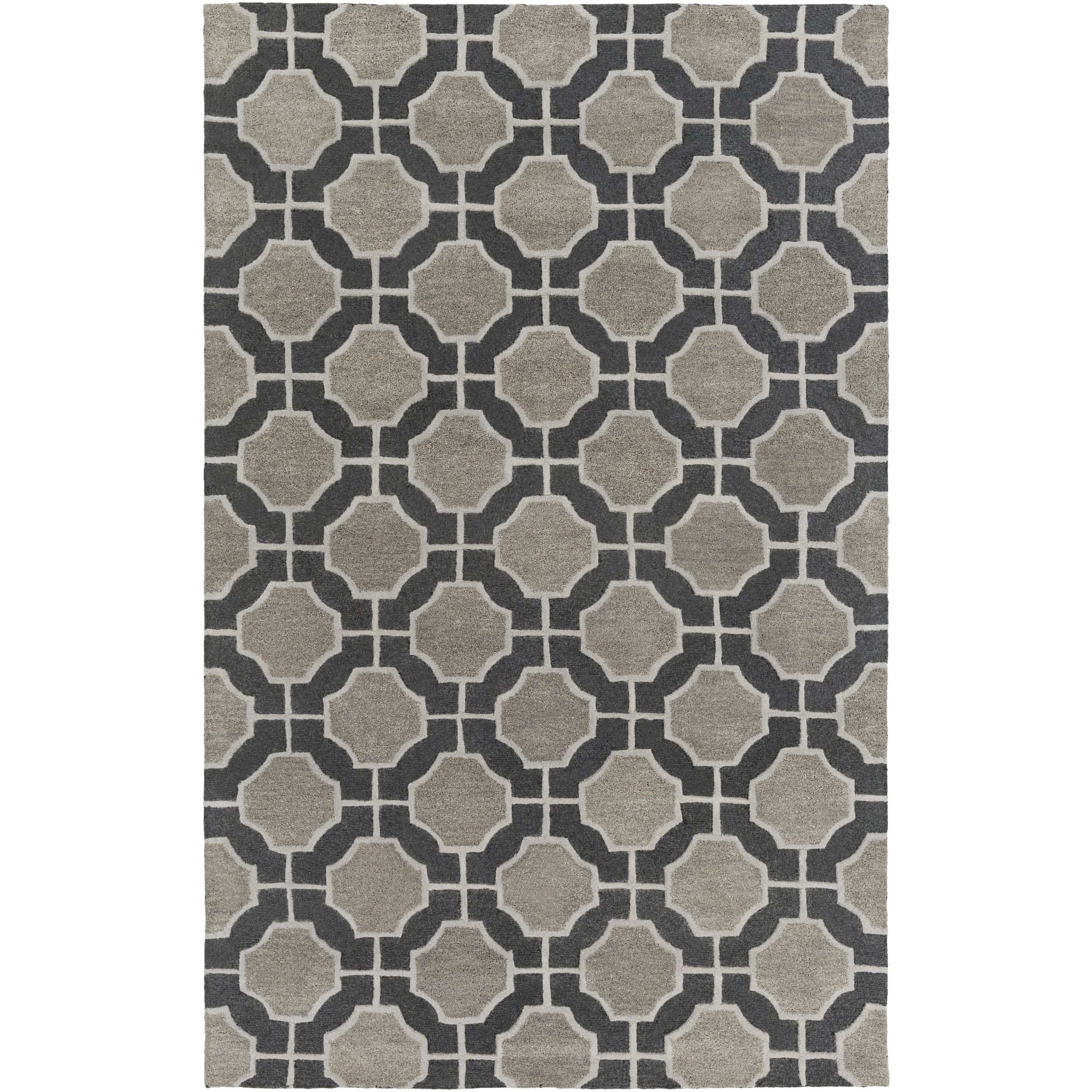 Hand Tufted Wallace Contemporary New Zealand Wool Area Rug 3 3 X 5