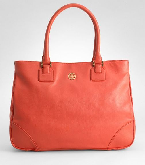 tory burch robinson tote in the perfect color