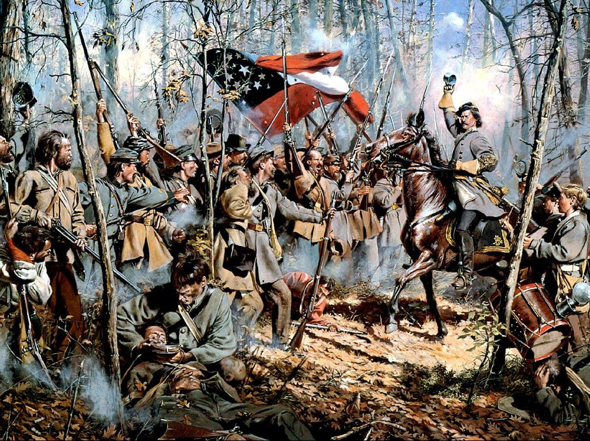 1862 04-06 Shiloh, Men of Arkansas - Don Troiani | Historia