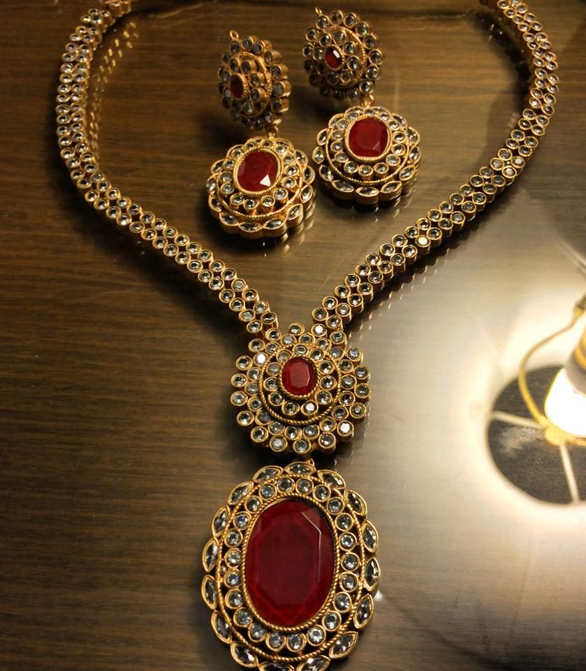 Rubi gold plaited jewellery set by my now days favourite designer