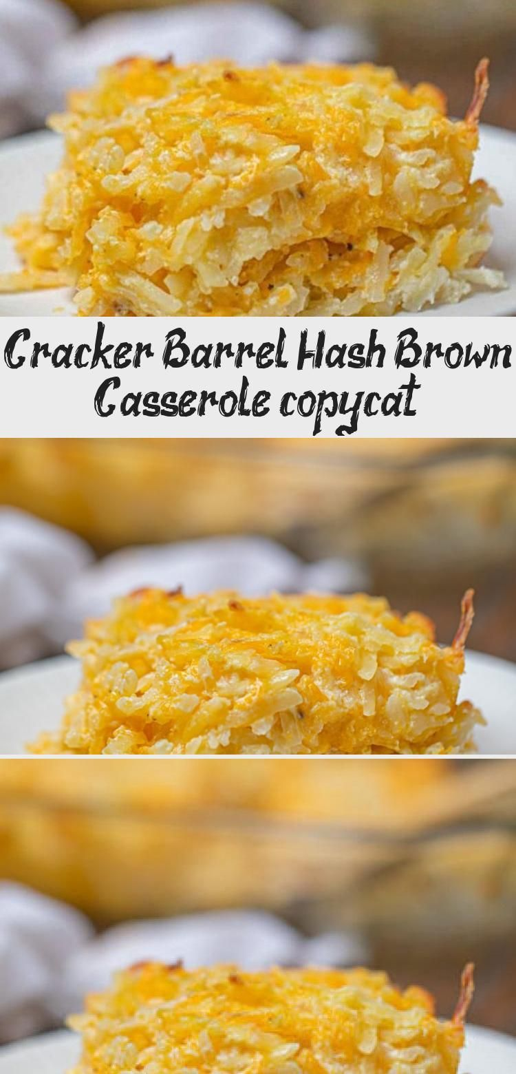 Cracker Barrel Hash Brown Casserole is the perfect copycat breakfast classic with shredded hash browns cheddar cheese sour cream and condensed soup