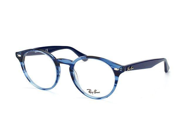 334c8858849 ❤️Ray Ban Frames Retro Round Stripe Blue Unisex Eyeglasses RB 2180-V 5572  47mm