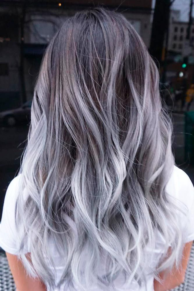Lovely Purple Gray Hair Color