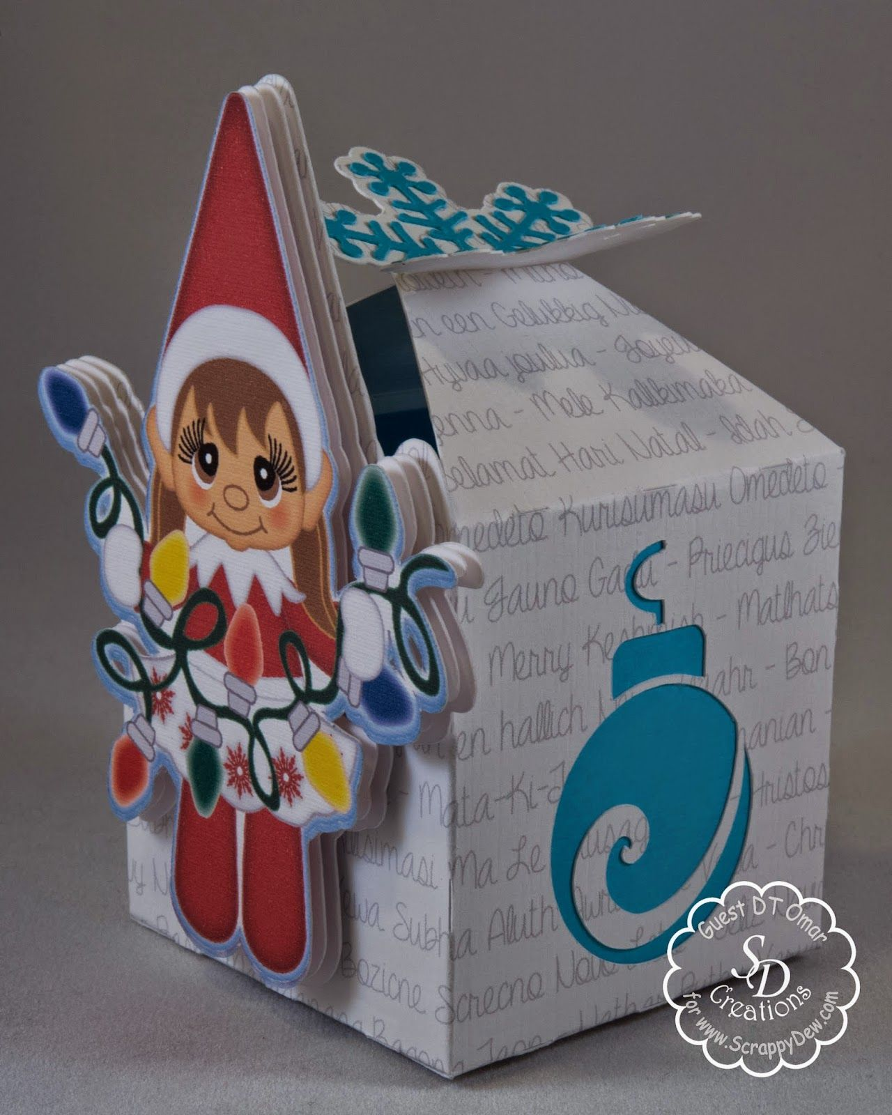 Awesome SVGs Elf Girl Favour Box, 2014 Christmas Series