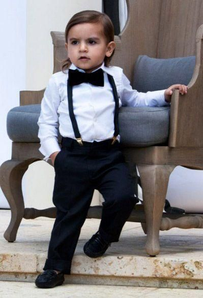 Determined Look To Do A Good Job This Cutie Melts My Heart Paige Boy Baby Wedding OutfitCute
