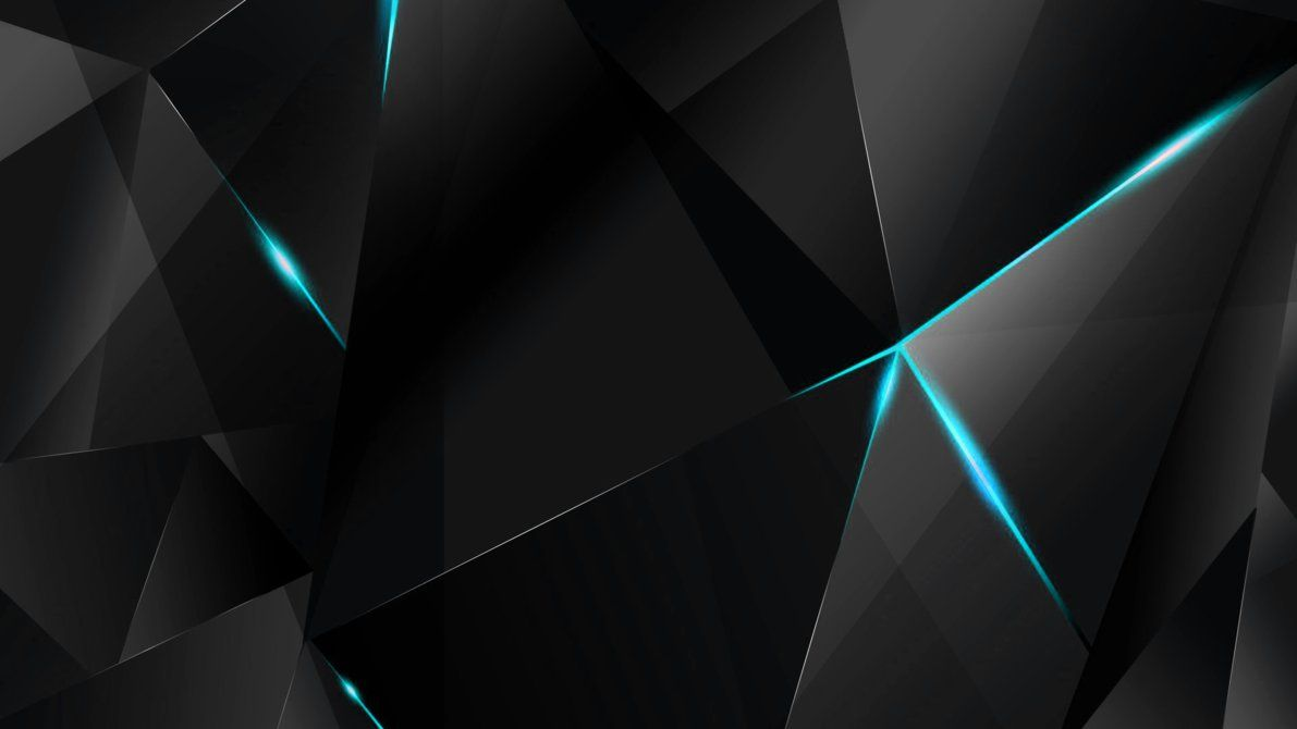 Wallpapers Cyan Abstract Polygons Black Bg By Kaminohunter Red And Black Wallpaper Black Wallpaper Red Wallpaper