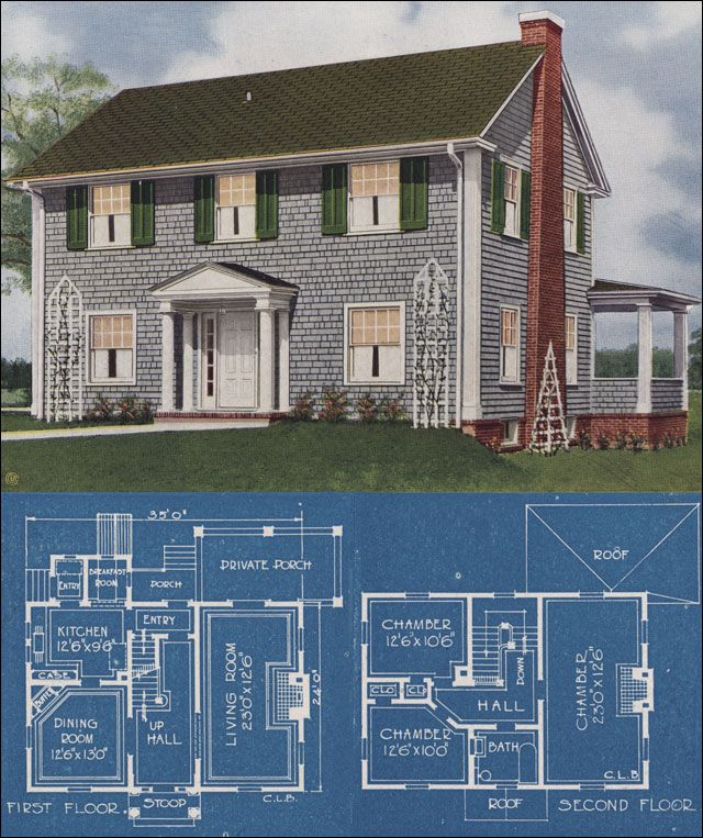 Colonial House Plans: American Homes Beautiful