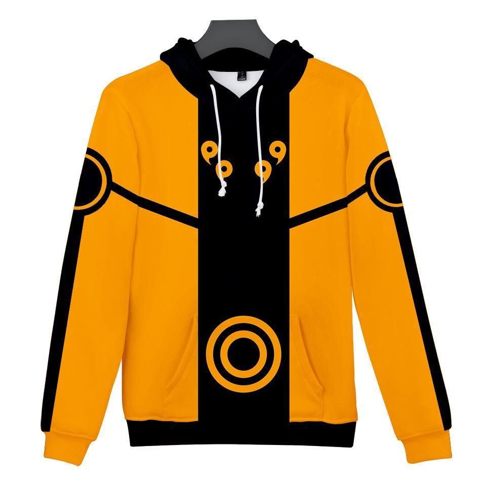 2019 naruto 3d pullover yellow hoodie sweatshirts hoodies