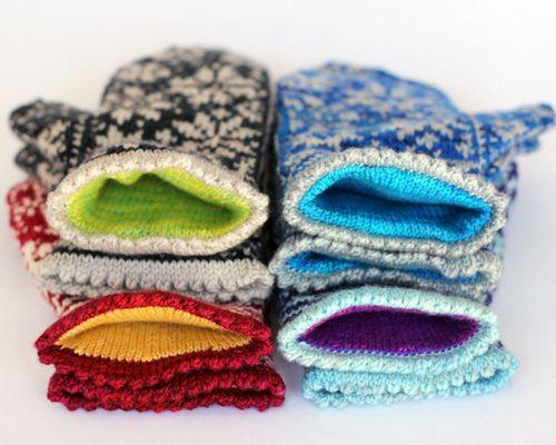 Snowfling Mitten Pattern Sew Easy Pinterest Mittens Pattern