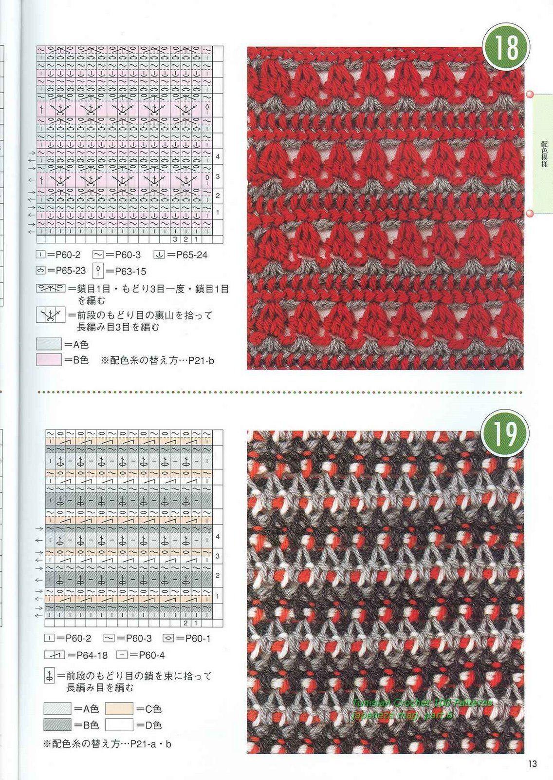 Pontos - Crochet Tunisiano | STITCHES (Crochet) | Pinterest ...