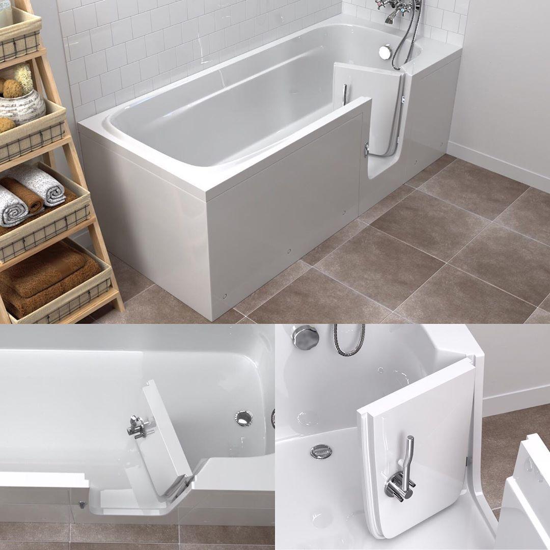 Senioren Sitzbadewanne Mit Tur Diese Badewanne Passt In Jedes Badezimmer Preis Leistungs Verhaltnis Minimalistische Form Badezimmer Hausbau Instalation Banyo