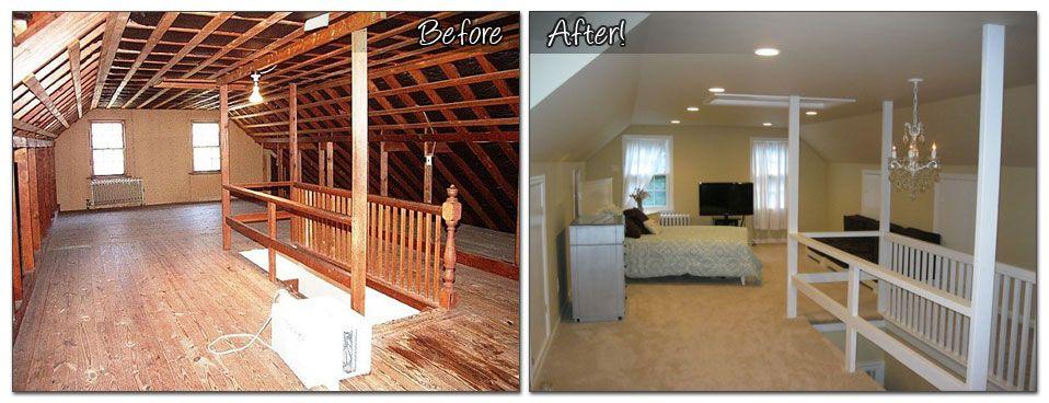 Attic Renovation Monk S Home Improvements Attic Renovation Attic Remodel Attic Design