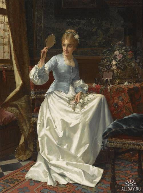 Бельгийский художник Jan Frederik Pieter Portielje (1829-1908)