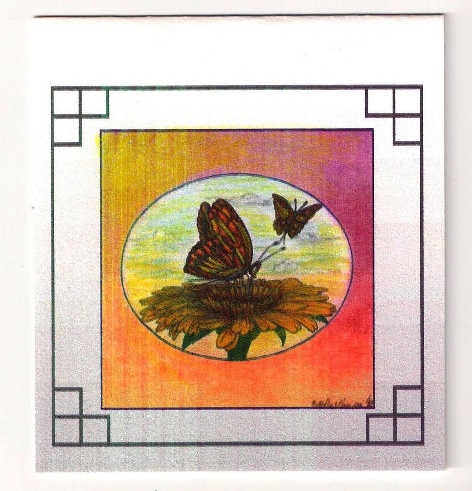 "NEW!! Limited Ed  2014' Art Bk- 6  ""Butterflies & Flower""  .49 Ce Postage Stamps"