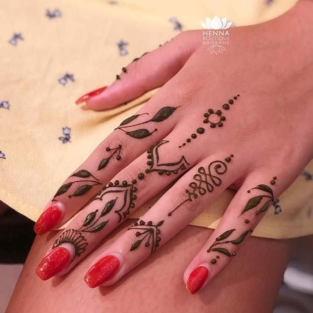 Lovely Henna Designs That Are Easy to Repeat #hennadesigns