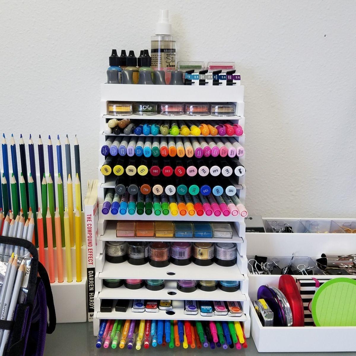 Craft organizer Marker storage Make up organizer