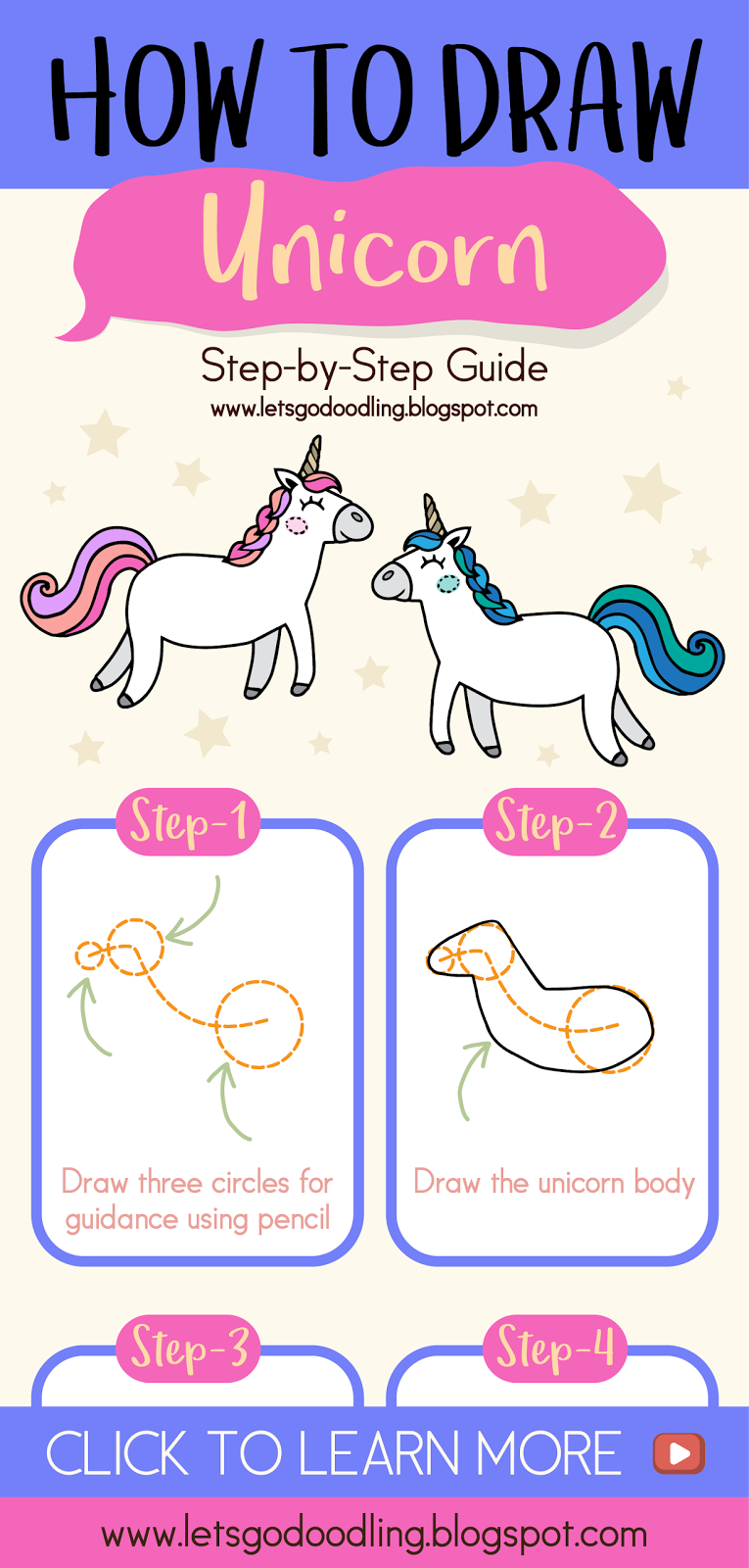 How to draw a cute unicorn easy step by step drawing tutorials youtubechannel youtubekids drawingtutorials diycrafts diy unicorn horse cute