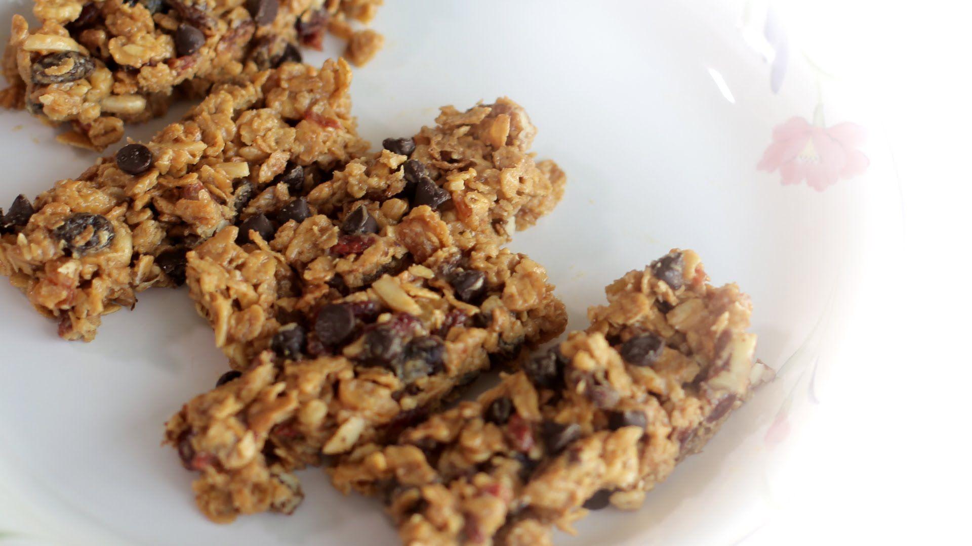 Cara mudah membuat granola bar tanpa dipanggang Granola