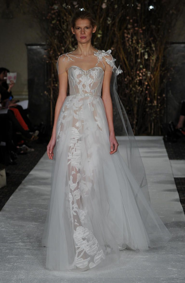 See Mira Zwillinger S Bold Barely There Wedding Dresses For Spring 2017 Theknot