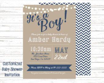 Cute printable baby shower invitation!