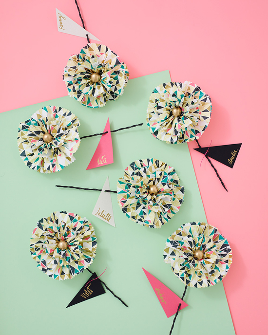 Paper Napkin Flower DIY by ThussFarrell for Oh Joy