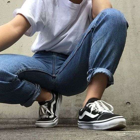 2a65680b56 Casual style   casual comfort   simple fashion   outfit inspiration    classic white tshirt and jeans   Vans sneakers