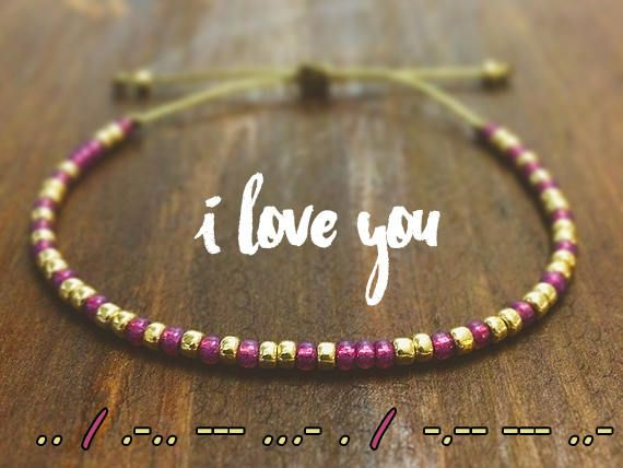 I Love You Morse Code Friendship Bracelet Bff Gifts Best Morse Code Bracelet Friendship Bracelets Diy Bracelets For Men