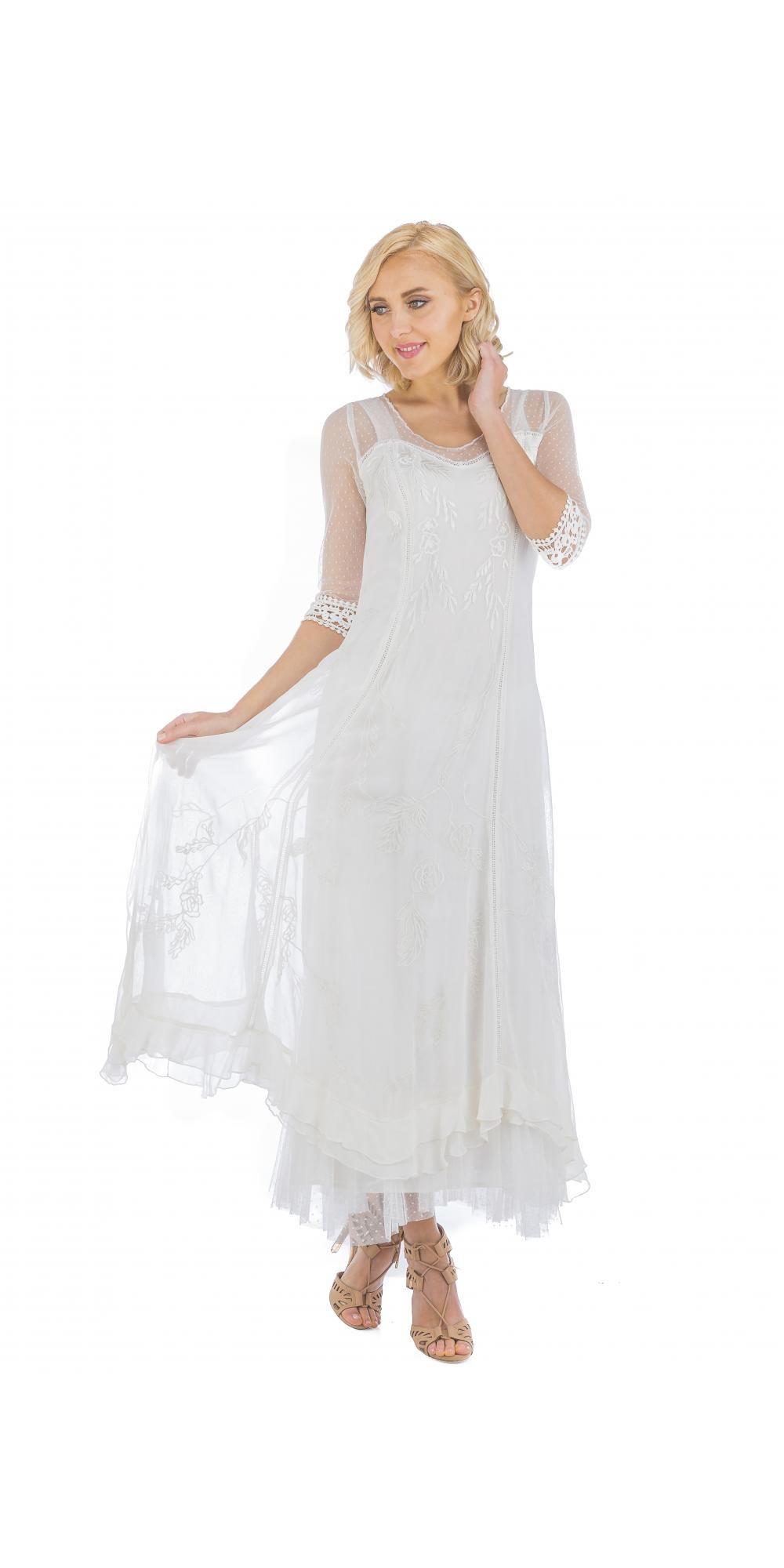 Nataya cl vintage style wedding dress in ivory vintage style