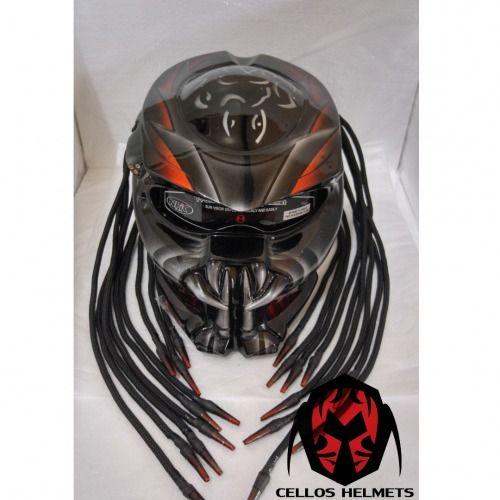 NEW PREDATOR HELMET CUSTOM STREET FIGHTER STYLE DOT APPROVED #Celloz #PredatorHelmet #Helmet