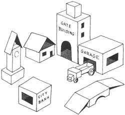 Cardboard box town