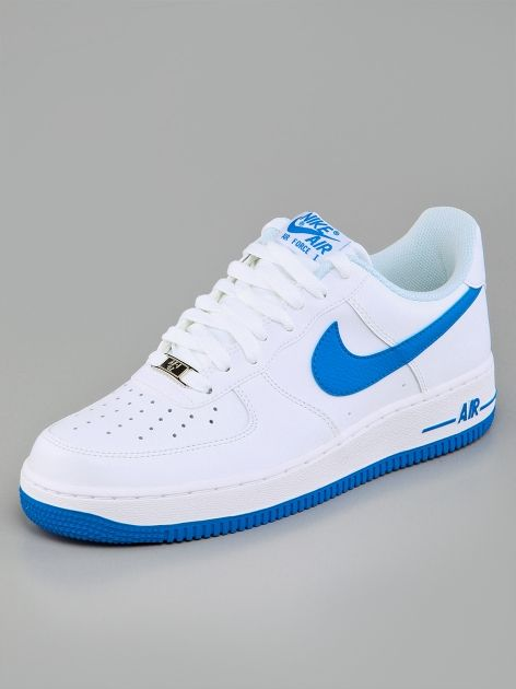 huge discount 48510 3ce15 Nike Air Force 1 White Photo Blue