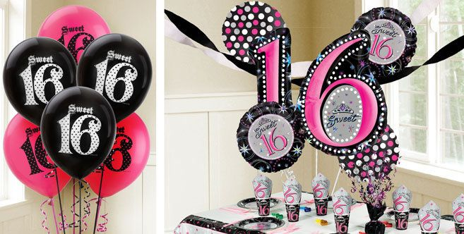 Sweet 16 Birthday Balloons