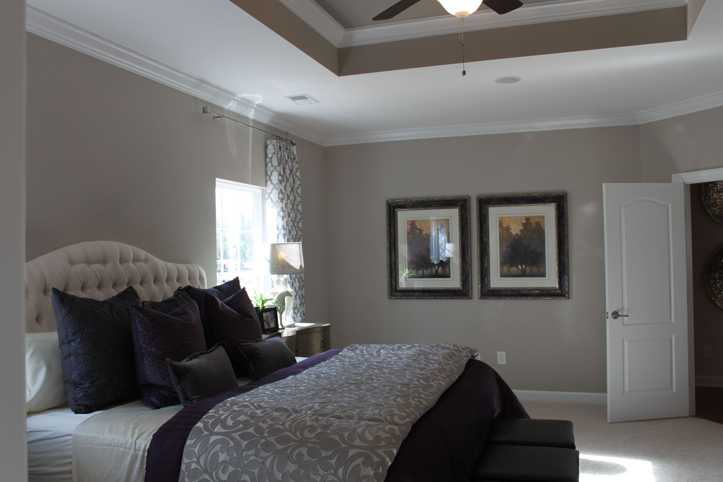 Huge 15 x 19 master bedroom with tray ceiling magnolia model home at brookefield estates - Master bedroom ceiling designs ...