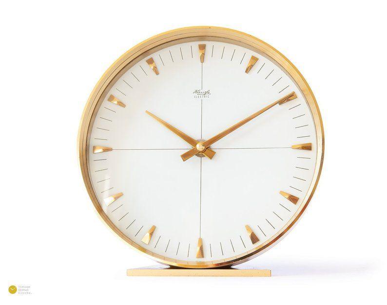Kienzle art deco desk clock bauhaus mid century modern
