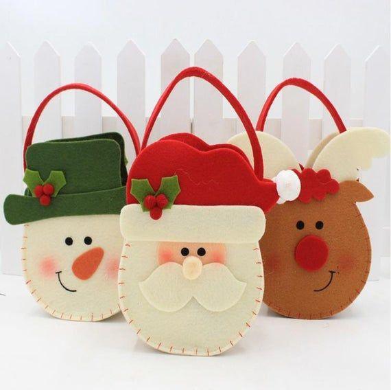 Bolsa de caramelo de Navidad bolsa de regalo de Navidad | Etsy