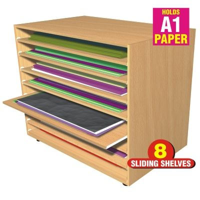 Safe Accessible A1 Paper Storage With No Rolling Or Folding