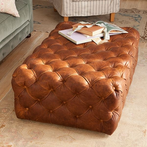 Tan Ottoman Coffee Table