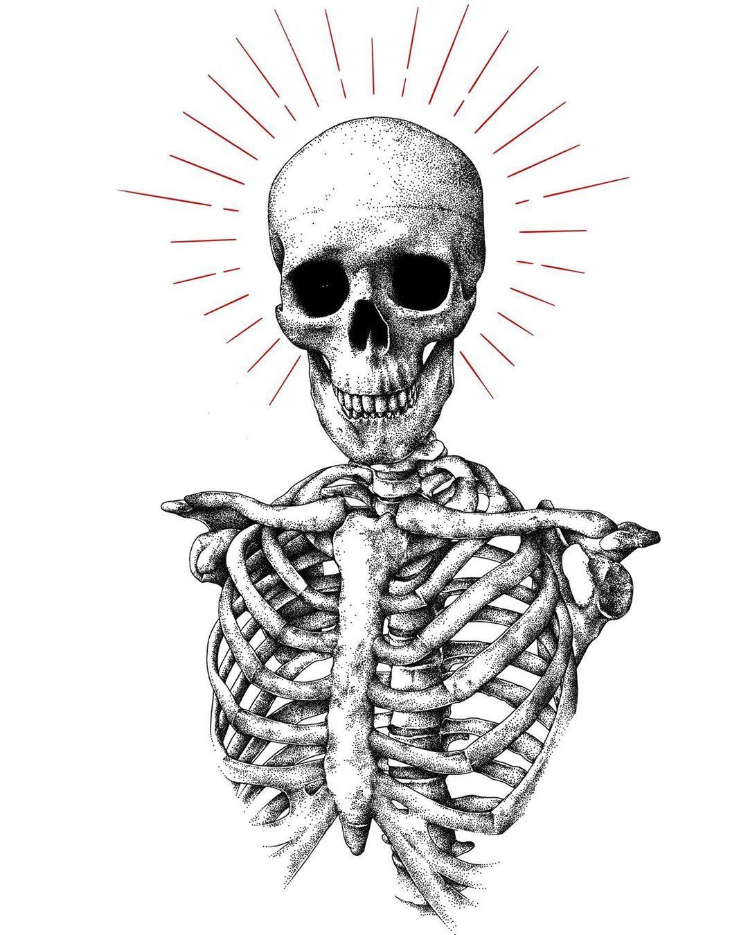 "Sergey Svetov on Instagram: ""• wikingerzug • #skull #skulls #skullart #skulltattoo #dotwork #dotworktattoo #darkart #darkarts #darkartist #darkartists #darkartwork…"""