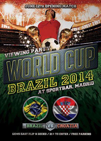 free world cup soccer brazil 2014 flyer template http www