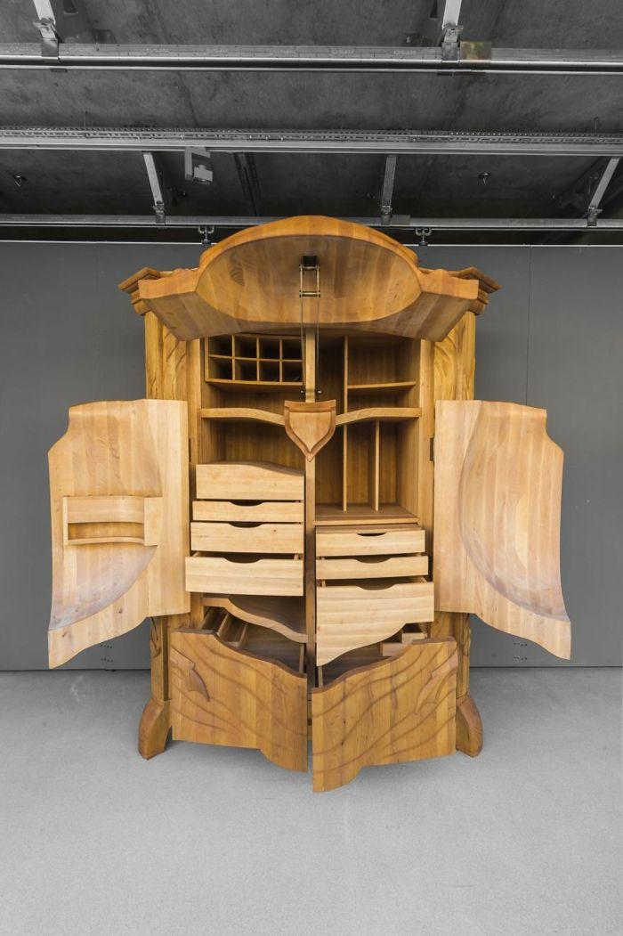 Cute wood craft bug cabinet holzschnitzerei kleiderschrank k nstler kunstwerk