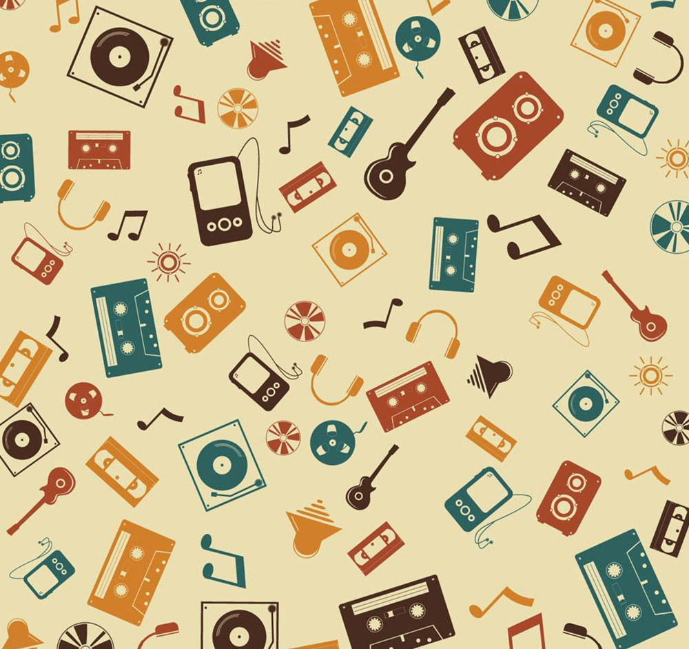 Music Pattern Roll | Wall Covering for Wall Decor | Pinterest ...